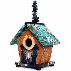 #Balancing_Rocks #Birdhouse by Joshua Coffy #bear