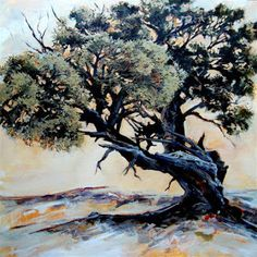 """Terry Kobus - """"Weathered Survivor"""" Oil on Canvas 900 x Tree Paintings, South African Artists, You Are Awesome, Oil On Canvas, Sculptures, Survival, Landscape, Gallery, Originals"""