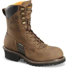 CA6580 Carolina Men's WP INS Steel Toe Safety Logger - Brown www.bootbay.com