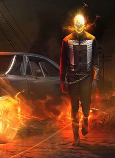 Ghost Rider (Roberto Reyes) by BossLogic // Marvel Comics