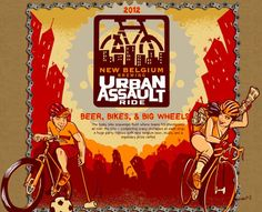It's a Bike Race, It's an Obstacle Course, It's a Party: The Urban Assault Ride Bike Events, Big Wheel, Obstacle Course, Racing, Urban, Adventure, Party, Running, Ferris Wheel