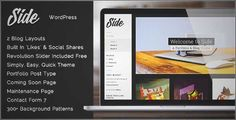 Download and review of Side - Full Width Creative WordPress Theme, one of the best Themeforest Creatives themes