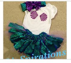 This one of a kind Ariel inspired Onesie or Shirt (upon request), headband and Skirt set will make any little girl feel like a Disney Princess. This is made with brand new one of a kind fish tail fabric :) How cute would this be for a photoshoot, birthday party, costume or day at Disneyland?! make your little princesses memories even more special with a custom Disney set! Please feel free to Convo me for any questions! Happy Shopping & Thanks for stopping by!   Due to the handmade nature ...