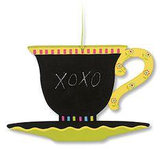 Teacup Shaped Chalkboard (via Mary Engelbreit  •  https://www.pinterest.com/pin/11047961557428458/ )