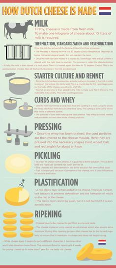 A look at how #Dutch #cheese is made - Discover more in this #infographic - http://www.finedininglovers.com/blog/food-drinks/how-dutch-cheese-is-made/