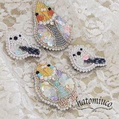 鳩みう子のハンドメイドブログ*キラキラのビーズ刺繍【4コマ/変な恋人(変恋)】