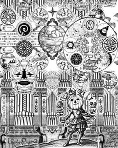 Visionary artwork, psychedelic art prints, contemporary collage art, and trippy movies by Larry. Illustrations, Illustration Art, Trippy Drawings, Ink Drawings, Medieval, Coloring Pages For Grown Ups, Sketches Tutorial, Doodle Lettering, Games
