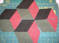 Easy Tumbling Blocks Tutorial - Part 1 - Cutting Instructions