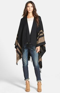 My #nsale purchase #anniversarysale Hinge Stripe Cape | Nordstrom