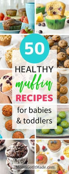 Fifty Healthy Muffins Your Toddler Will Love. Awesome roundup of veggie sweet savory delicious muffins that are perfect snacks for your baby or toddler! Includes recipe options for all diets including paleo gluten-free dairy-free sugar free and more. Baby Muffins, Muffins For Babies, Toddler Meals, Kids Meals, Toddler Stuff, Muffins Sains, Planning Menu, Baby Snacks, Baby Foods