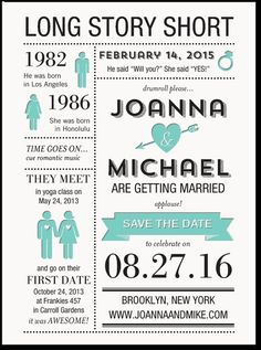 This is our Save the Date for friends bridal party & younger