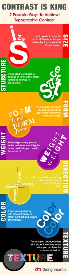 Contrast is King! 7 Possible Ways to Achieve Typographic Contrast