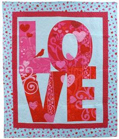 Free quilt pattern - Quilted Love Panel Quilt