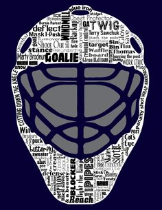 All things hockey goalie subway art