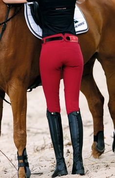 Love these red riding breeches