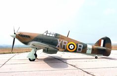 Hawker Hurricane at rest at an airfield