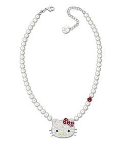 fb3dd038a SWAROVSKI White & Pink Hello Kitty Dots Necklace Hello Kitty Jewelry, Pink Hello  Kitty,