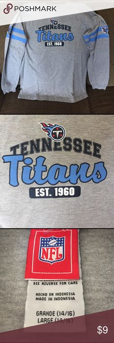 Boys Tennessee Titans Long Sleeve Shirt Great condition. Size 14/16 NFL Shirts & Tops Tees - Long Sleeve