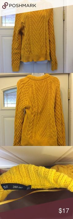 Zara Knit Sweater EUC condition. Worn once. A mustard yellow color. Zara Tops