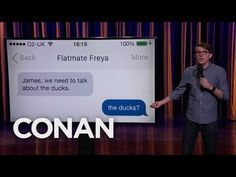 James veitch on Conan, how he ducked his roommate. Funny Pranks, Funny Memes, Hilarious, Jokes, Stupid Funny, Funny Stuff, Funny Meme Pictures, Funny Posts, Roommate Pranks