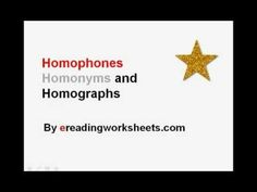 Homophones, Homonyms, and Homographs   Common Core Reading Instruction Video