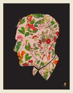 Floral Man Serigraph by Methane Studios at AllPosters.com