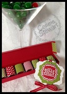 November 7, 2013 Simply Simple Christmas Chocolate Gift box - Video by Connie  www.SimplySimpleStamping.com