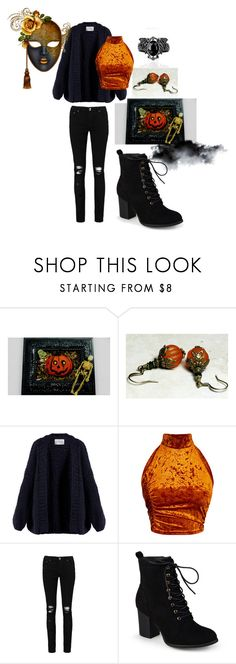 """""""Im ready for Halloween"""" by queenofteeth ❤ liked on Polyvore featuring I Love Mr. Mittens, Boohoo, Journee Collection, Fall, Halloween, orange, autumn and velvet"""