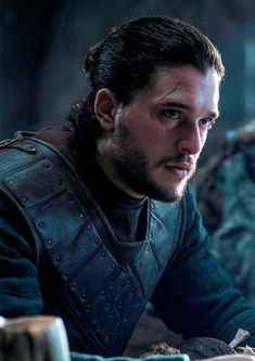 Jon Snow with a man bun!!!