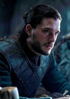 Jon Snow with a man bun!!!