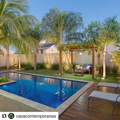 Beauty Tropical Garden Pool Design Ideas for Modern Home . - Beauty Tropical Garden Pool design ideas for modern home … - Small Backyard Pools, Swimming Pools Backyard, Swimming Pool Designs, Backyard Patio, Backyard Landscaping, Landscaping Ideas, Palm Trees Landscaping, Swimming Ponds, Small Swimming Pools