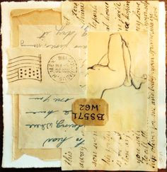 Secrets Tea Bag Art, Old Stamps, Collage Art, Collages, Art Abstrait, Cs Go, Mark Making, Mail Art, Signs