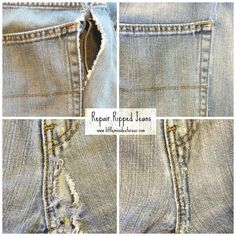 Don't throw out your money or your favorite jeans any more!  Fix your jeans!
