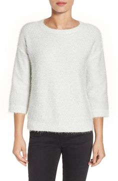 Halogen® Metallic Eyelash Knit Sweater $79.00