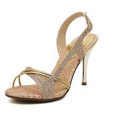 zapatos de las mujeres del dedo del pie en punta sandalias de cuero zapatos de tacón de aguja – MXN $ 367.84