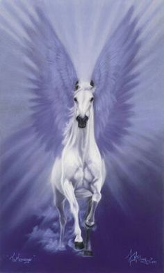 """The Messenger"", Pegasus art by Kim McElroy."