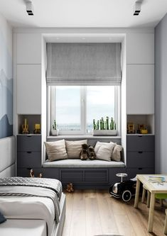 Insanely Bedroom Storage Ideas - To make this happen, you can start by changing the bedroom storage. Here are some bedroom storage ideas for your home Home Bedroom, Girls Bedroom, Bedroom Decor, Master Bedroom, Bedroom Closets, Bedroom Nook, Bedroom Retreat, Bedroom Plants, Playroom Decor