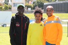legends marathon 2014 prizegiving, Firegent Mandfredo with Lusapho April and Benard Koech Eritrean, Marathons, Athlete, Rain Jacket, Legends, Windbreaker, Rain Gear, Marathon, Raincoat