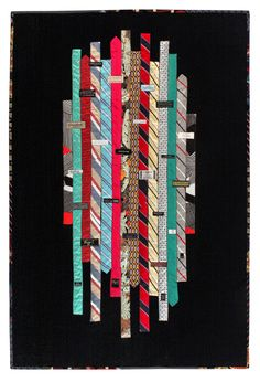 """""""Gentlemen's Night Out"""" by Hope Wilmarth   SAQA.  A quilt made with neckties."""