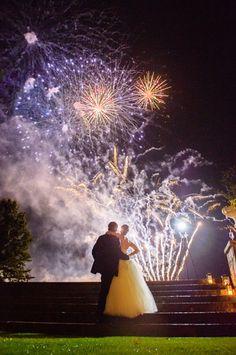 Katherine and Mark – Feature Wedding by Caprisio, LLC. Trump National Golf Club Bedminster NJ, Wedding. Wedding night fireworks. http://www.caprisio.com