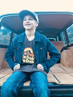 South Dakota Unisex Tee SoDak Retro Camping  T-shirt by Oh Geez! Design