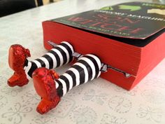 Wicked Witch Bookmark DIY I love this one. I am going to follow the directions and photos and see how close I get.