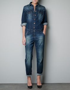 denim jumpsuit | On The Cusp: Denim | Pinterest | Denim jumpsuit ...