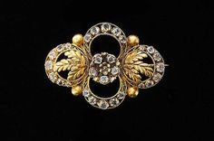 Antique Georgian 14k Gold Diamond Paste Brooch by EtsyClassic, $320.00