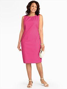 Talbots - Cotton Piqué Sheath | Dresses | Woman