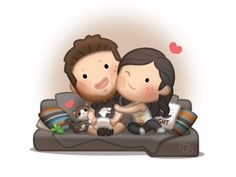 HJ-Story- though we both dont like pets dt much, but hv been dreaming of getting one once we settle together. lets see when willk get over our fear of it. Love Cartoon Couple, Chibi Couple, Cute Love Cartoons, Cute Couple Art, Funny Cartoons, Love Wallpapers Romantic, Cute Wallpapers, Cute Love Stories, Love Story
