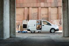 Deret teste le Nissan e-NV200, le véhicule 100% électrique de Nissan - via www.nissan-couriant.fr