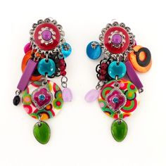 "Boucles Ikita Paris "" Clip "" shoppingnet.fr Boucles d'oreilles Clips - Multicolores. Création Ikita Paris - Bijoux Fantaisies Beading Ideas, Genre, Fashion Earrings, Creations, Jewels, Drop Earrings, Jewellery, Beads, Bracelets"