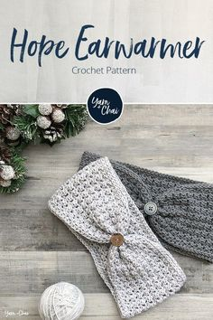 Hope Earwarmer Free pattern available. : Hope Earwarmer Free pattern available. Crochet Gifts, Cute Crochet, Easy Crochet, Crochet Baby, Doilies Crochet, Crochet Ear Warmer Pattern, Crochet Headband Free, Knitting Patterns, Crochet Patterns