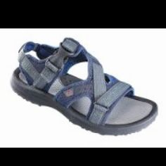 """Merrill's """"water"""" sandals for our cruise. Merrill will now own a whopping 5 pairs of shoes!!"""